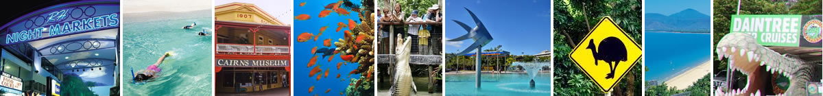 Attractions in the Cairns area